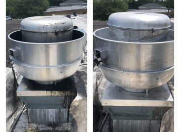 Before and After- Exhaust Fan Cleaning- Superior Steam Inc 3